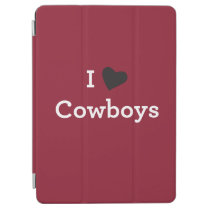 I Love Cowboys iPad Air Cover