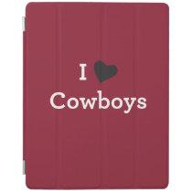 I Love Cowboys iPad Smart Cover