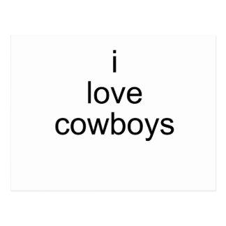 i love cowboys postcard