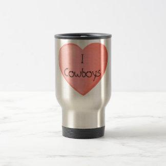 I Love Cowboys! Stainless Steel Travel Mug