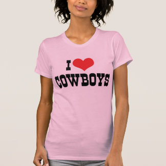 I Love Cowboys T-Shirt
