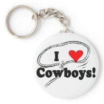 I Love Cowboys T-shirts and Gifts. Keychain