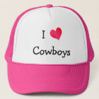 I Love Cowboys Trucker Hat