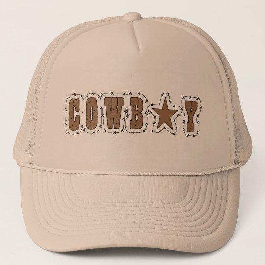 I Love Cowboys Western Trucker Hat