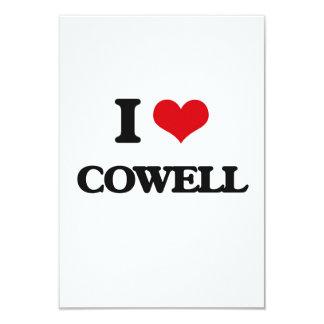 I Love Cowell 3.5x5 Paper Invitation Card