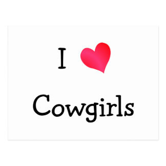 I Love Cowgirls Postcard