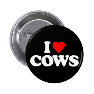 I LOVE COWS 2 INCH ROUND BUTTON