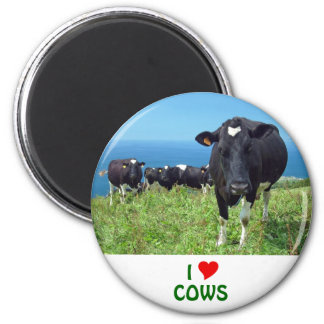 I Love Cows 2 Inch Round Magnet