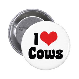 I Love Cows Button