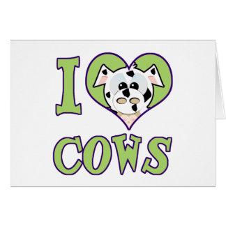 I Love cows Card