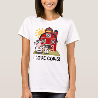 I love cows Country womens t-shirt