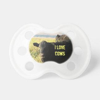 I Love Cows Cute Western Black Cattle Calves BooginHead Pacifier