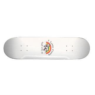 I love cows deal with it custom skateboard