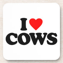 I LOVE COWS DRINK COASTER