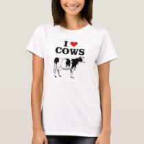 I love cows fun t-shirt