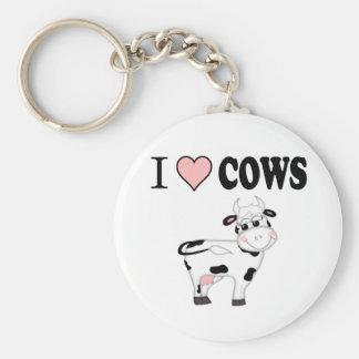 I Love Cows Key Chains