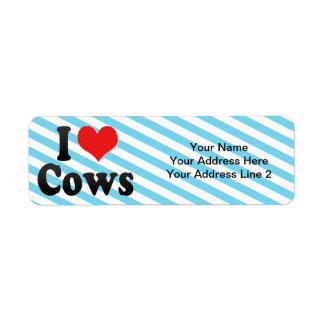 I Love Cows Label