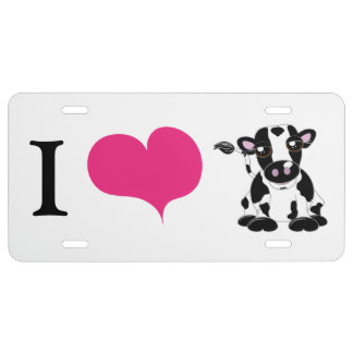 I love cows license plate