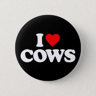 I LOVE COWS PINBACK BUTTON