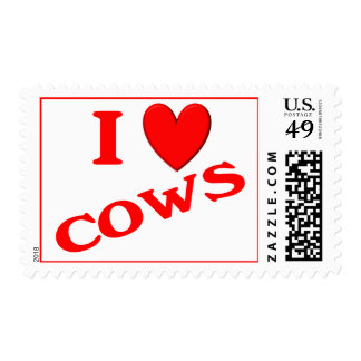 I Love Cows Stamp