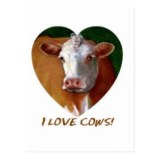 I LOVE COWS POSTCARD
