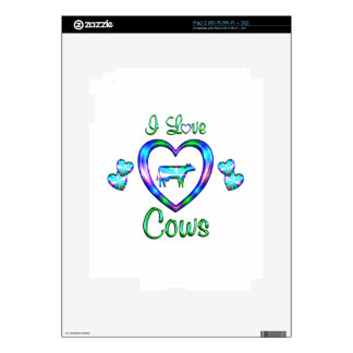 I Love Cows Decal For iPad 2