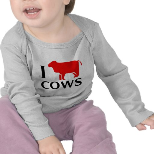 I Love Cows Tees
