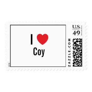 I love Coy Postage Stamp