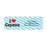 I Love Coyotes Custom Return Address Labels