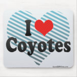 I Love Coyotes Mouse Pads