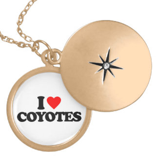 I LOVE COYOTES CUSTOM NECKLACE