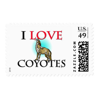 I Love Coyotes Postage Stamps