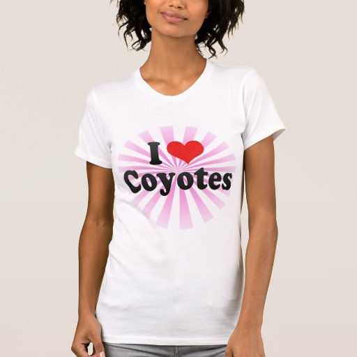 I Love Coyotes Tees