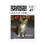 I love Cozy Cat Kittens! Postage Stamp
