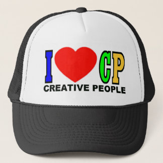 I Love CP (Creative People) Trucker Hat
