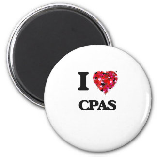 I love Cpas 2 Inch Round Magnet