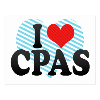 I Love CPAS Postcard