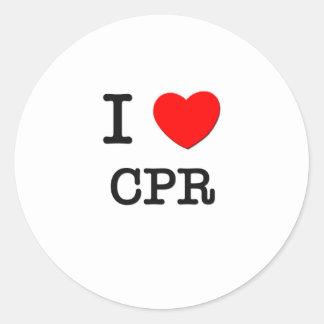 I Love Cpr Round Stickers