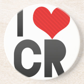 I Love CR Beverage Coaster