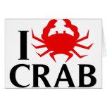 I Love Crab Card