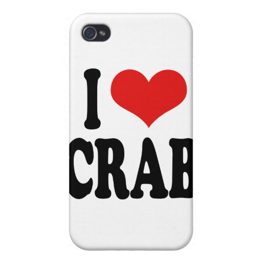 I Love Crab Cover For iPhone 4