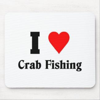 I love Crab Fishing Mouse Pad