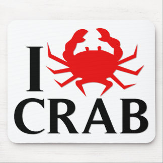 I Love Crab Mouse Pad