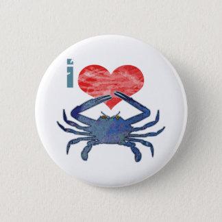 I Love Crab Pinback Button