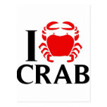 I Love Crab Post Cards