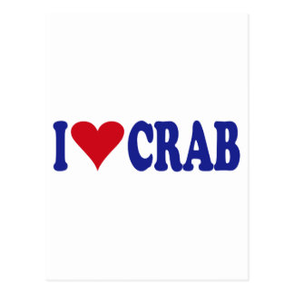 I Love Crab Postcard