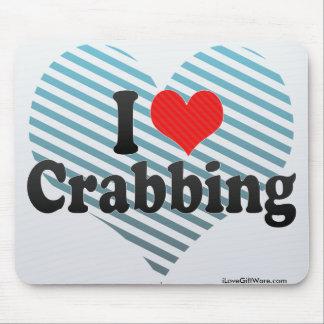 I Love Crabbing Mouse Pad