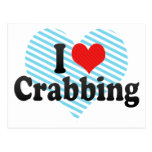 I Love Crabbing Postcard
