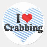 I Love Crabbing Stickers