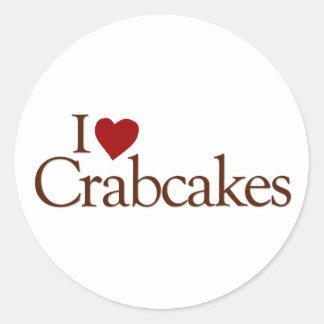 I Love Crabcakes Classic Round Sticker